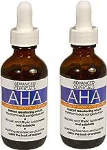 Advanced Clinicals AHA Alpha Hydroxy Acid Instant Resurfacing and Hydrating Serum 1.75 Fl Oz. (1.75oz) (Two - 1.75oz)