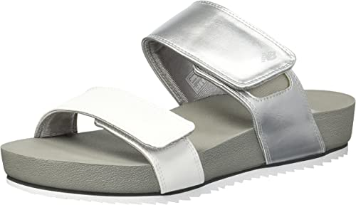 New Balance damen& 039;s City City City Slide Sandal, Silber, 6 B US  Spielraum