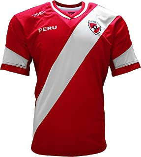 94afd9376 Peru 2017 Jersey New Arza Soccer Red for Men 100% Polyester