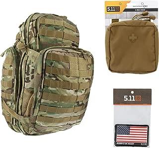 5.11 RUSH72 Tactical Backpack Med First Aid Patriot Bundle - Multicam