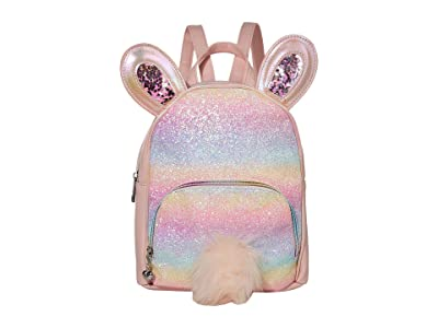 OMG! Accessories Rainbow Glitter Bunny Mini Backpack (Pink) Backpack Bags