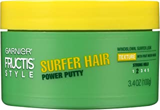 Garnier Fructis Style Surfer Hair Power Putty, 3.4 Ounce (Pack of 3)