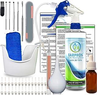 EARPROS Ear Wax Removal Tool Kit - with 25 Bio-Based Tips - Ear Cleaner Ear Washer Bottle System Ear Irrigation Ear Cleani...