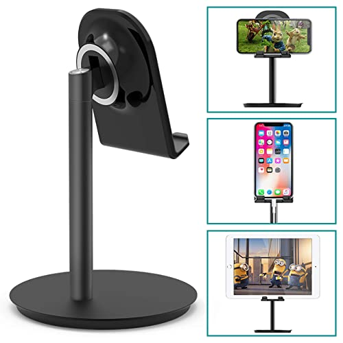 Klearlook Cell Phone Stand, Adjustable Swivel Desk Stand Holder Compatible for iPhone Galaxy Phone Tablet