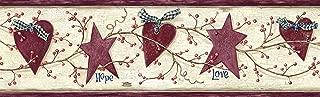 Chesapeake PUR44533B Dorothy Rose Star Heart Sprig Wallpaper Border
