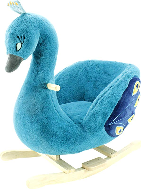 Animal Adventure Soft Landing Joyrides Peacock Character Rocker Renewed