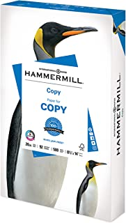 Hammermill Printer Paper, 20 lb Copy Paper, 8.5 x 14 - 1 Ream (500 Sheets) - 92 Bright, Made in the USA