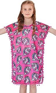 Girls Swimsuit Cover Up Tassel Beach Dress V-Neck Swim Cover-Up 3-12 Years