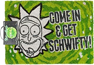 Rick And Morty Come In And Get Schwifty Door Mat (One Size) (Green)
