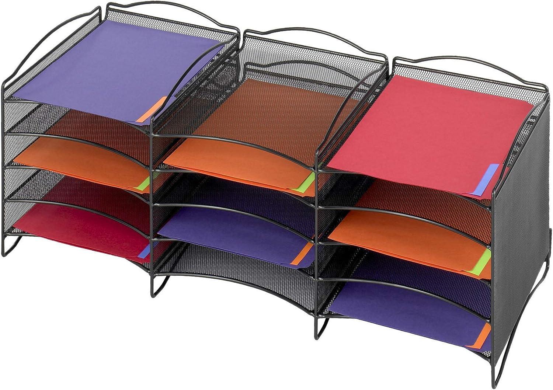 2. Safco Products 9430BL Onyx Mesh Literature Organizer
