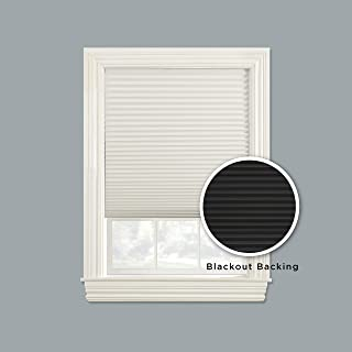 Furniture Fresh Blackout Pleated Paper Shade - Reversible Black and White - Cut to Length. 35