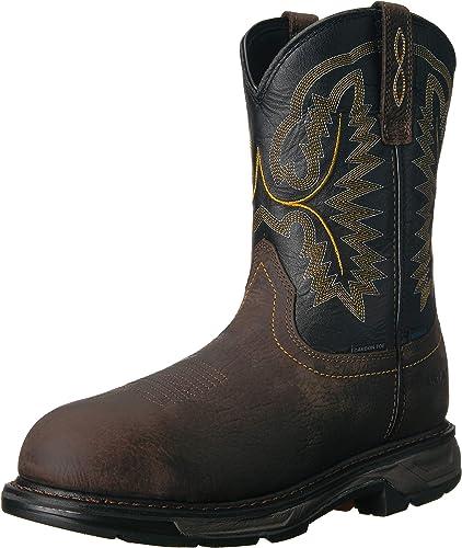 Ariat - Chaussures de Travail Western Workhog XT H2O Carbon Toe Hommes, 49 W EU, Bruin marron noir
