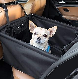 LIONSTRONG Hunde Autositz, kleine bis mittlere Hunde, Hundesitz wasserdicht, Hundedecke, Einzelsitz für die Rückbank +inkl Sicherheitsgurt für den Hund