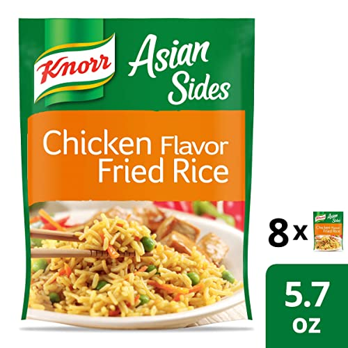 Knorr Asian Sides Rice Side Dish For A Tasty Rice Side Dish Chicken Fried Rice No Artificial Flavors 5.7 Oz, 8 Count