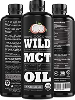 Organic MCT Oil C8/C10 Blend from 100% Coconuts | USDA, Non-GMO, Triple Filtered & Batch Tested for Purity,...