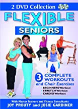 Flexible Seniors Set with 3 Complete Workouts, Chair Exercises, Beginners Workout, Stretch Workout, Cardio Workout to Lose Weight, Build Muscles & Strengthen Bones