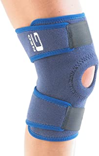 Neo G Open Knee Brace - Support for Arthritis, Joint Pain Relief, Meniscus Pain, Recovery, Sports, Basketball, Running - Adjustable Compression - Class 1 Medical Device - One Size - Blue