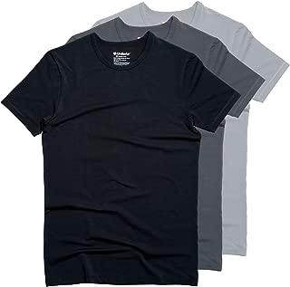 Men's 3 Pack Soft Modal Cotton Blend Crew Neck T-Shirts