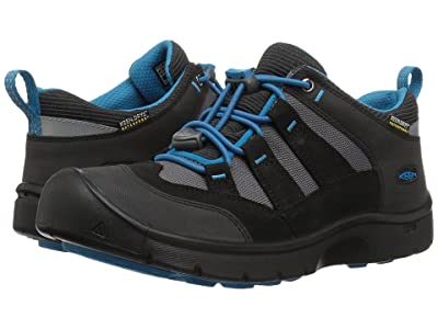 Keen Kids Hikeport WP (Little Kid/Big Kid) (Black/Blue Jewel) Boy