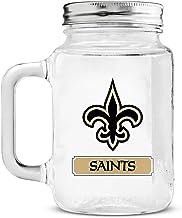 جرة ماسون الزجاجية من متجر Duck House NFL Fan Shop NFL مع مقبض | رائعة للمشروبات الشراب | غطاء من الفولاذ المقاوم للصدأ | ...