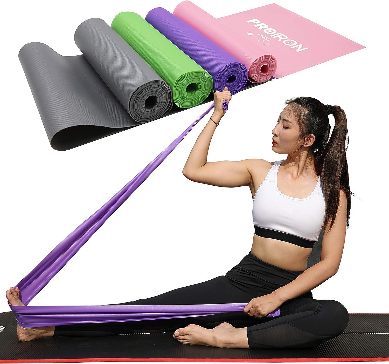 PROIRON Fitnessb/änder Theraband Fitness Latexfrei Lang /Übungsband 1.5M 2M Gymnastikband Krafttraining f/ür Pilates Therapien Trainieren Zuhause