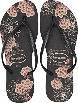 e95d2b2e2cd1 Black Dark Grey Metallic. Havaianas. Slim Organic Flip Flops