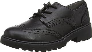 Geox J Casey Girl N, School Uniform Shoe Bambina