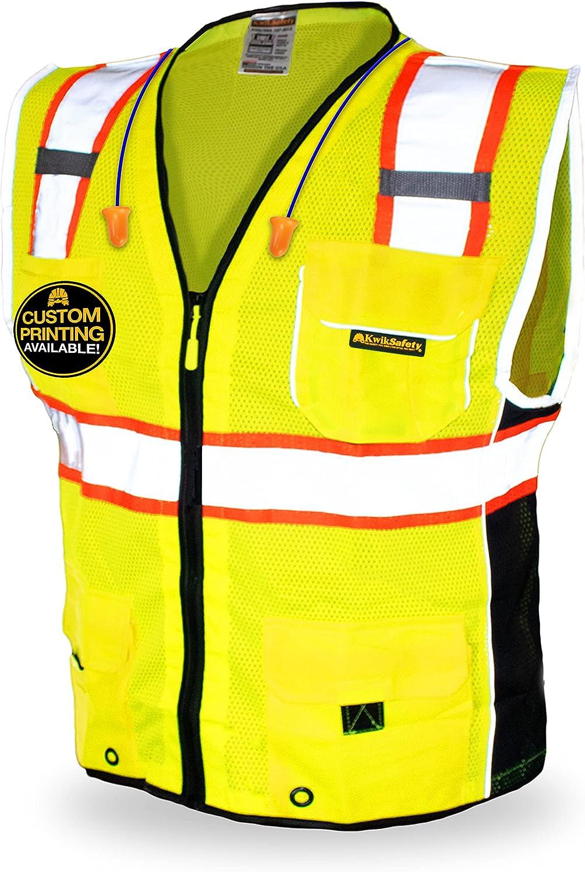 KwikSafety CLASSIC SUPREME Safety low-pricing Vest Class ANSI 1 Trust 2 Pac OSHA