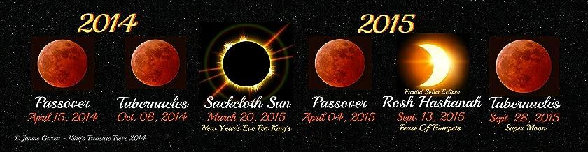 Biblical Feasts, Blood Moon - Solar Eclipse Calendar Bookmark