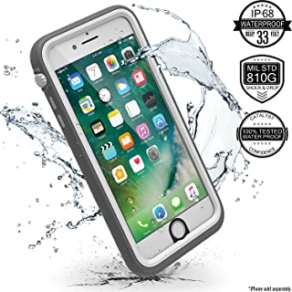 iPhone 7 Plus Waterproof Case, Shock Proof, Drop Proof by Catalyst for Apple iPhone 7+ with High Touch Sensitivity ID (Alpine White)
