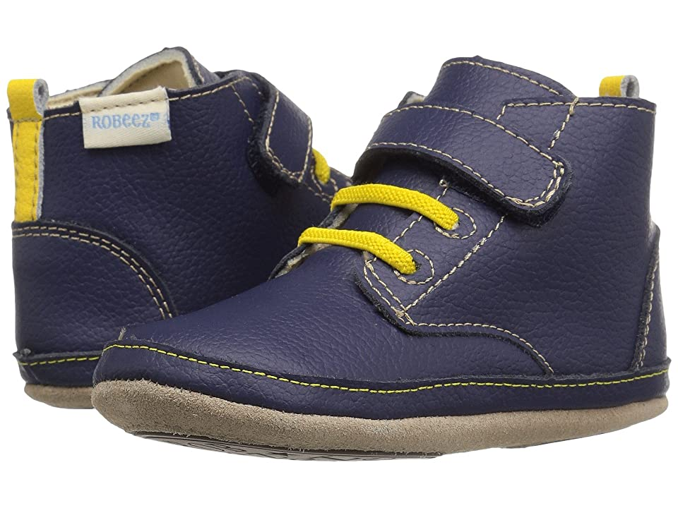 Robeez Nick Boot Mini Shoez (Infant/Toddler) (Navy) Boys Shoes