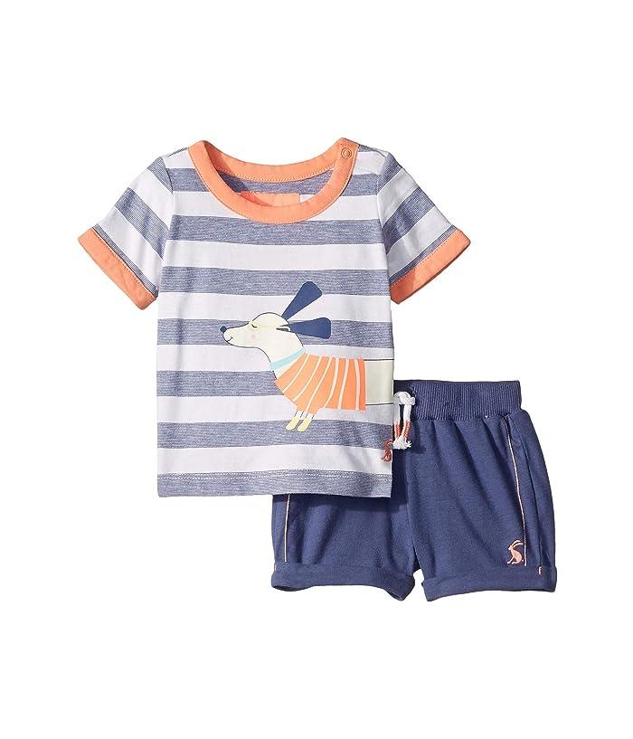 Joules Kids Barnacle Set (Infant) (Navy Dog Stripe) Boy