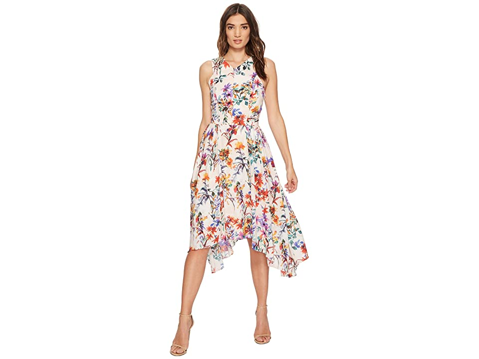 Adelyn Rae Vanessa Fit and Flare Dress (Light Pink Multi) Women
