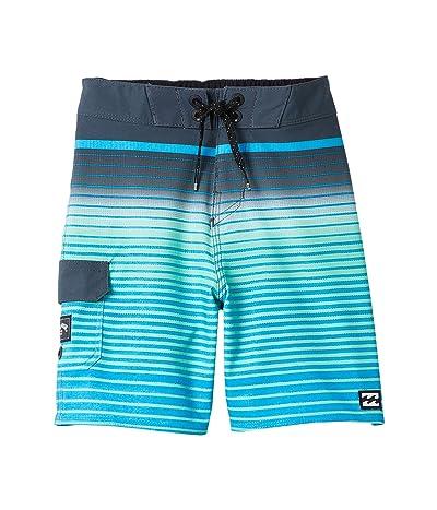Billabong Kids All Day Stripe Pro Swim Shorts (Toddler/Little Kids) (Blue) Boy