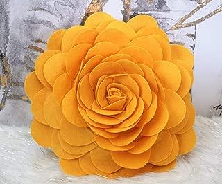 gold flower pillow