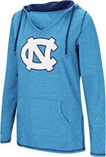 Colosseum Women's NCAA-Scream It!- Dual Blend-Fleece V-Neck Hoodie Pullover Sweatshirt