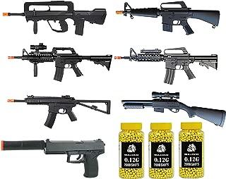 A&N Airsoft Spring Rifle & Pistol Bundle [5 Airsoft Rifles] 1 Airsoft Pistol [1 Airsoft Spring Shotgun] 6000 Bulldog 0.12g BBS