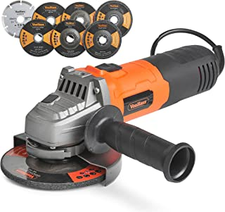 """Sponsored Ad – VonHaus 125mm 900W (5"""") Angle Grinder with 7 Disc Accessory Kit – Compatible with 125mm and 115mm Cutting D..."""