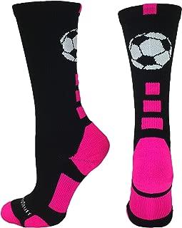 MadSportsStuff Soccer Ball Athletic Crew Socks (Multiple Colors)