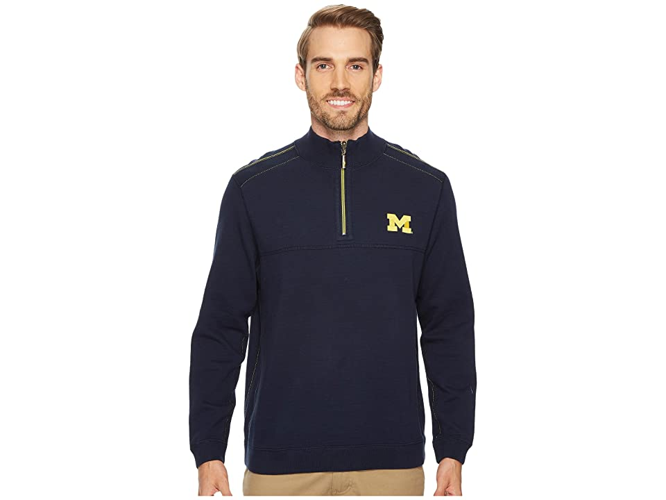 Tommy Bahama Michigan Wolverines Collegiate Campus Flip Sweater (University Of Michigan) Men