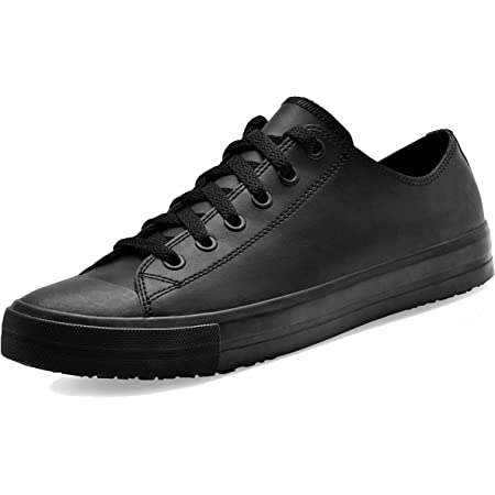 Shoes for Crews 38649-39/6 DELRAY Unisex Casual Leather Shoe, Slip Resistant, Size 6 UK, Black