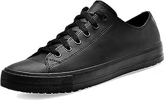 Shoes for Crews 38649-38/5 DELRAY Unisex Casual Leather Shoe, Slip Resistant, Size 5 UK, Black