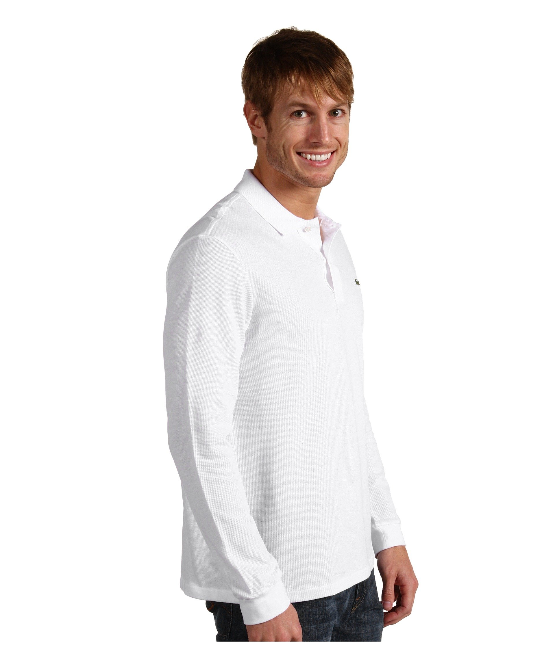 Sleeve Lacoste Long Polo Shirt Classic Pique White 4F07xFq5