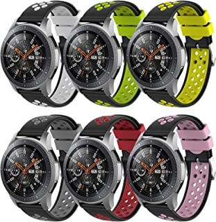 Songsier Compatible with Gear S3 Frontier Band/Galaxy Watch 3 45mm/Galaxy Watch 46mm/Gear 2 /Huawei Watch GT2 46mm/ Moto 3...