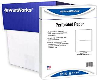 3 up perforated paper