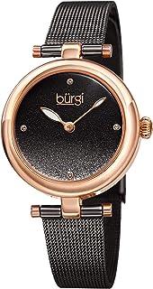 Burgi Womens Quartz Watch, Analog Display and Stainless Steel Strap BUR231GN