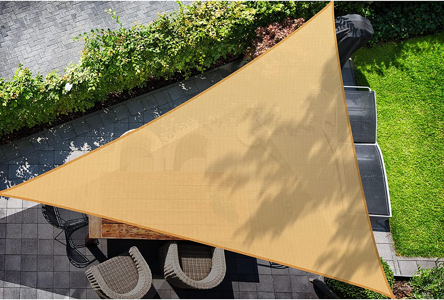 DOEWORKS 16' x Right Triangle Ranking TOP1 UV Sun Sail Block National products Shade