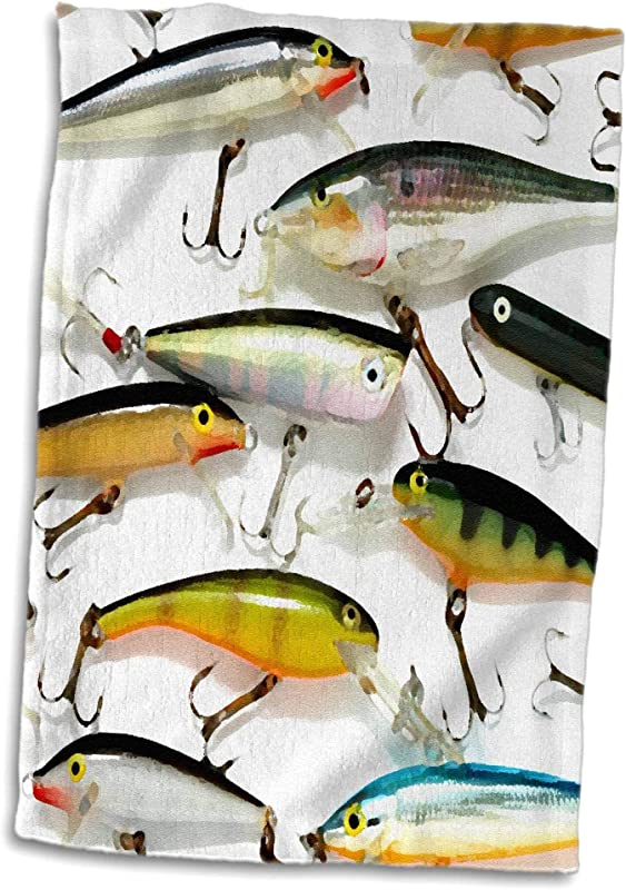 3D Rose Fly Fishing Lures Towel 15 X 22