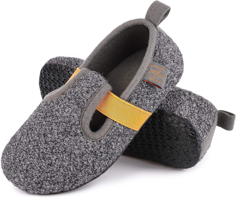 HomeTop Boys Girls Comfy Wool Felt Louisville-Jefferson County Mall House Shoes Light Stre Max 82% OFF Weight