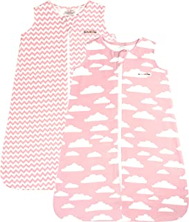 BaeBae Goods Sleep Bag Set for Baby Boys & Girls | Pink Clouds Collection | Wearable Blankets | Baby Sleeping Bag (18-24 Months)